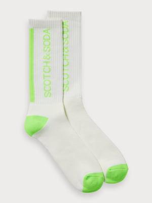 Носки бело-салатовые | 5319758