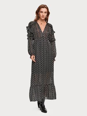 Сукня чорна з принтом | 5319765