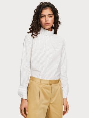 Блуза белая в полоску | 5319778