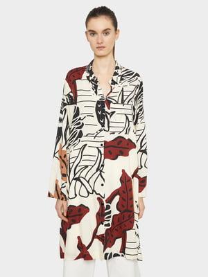 Сукня-туніка кольору екрю з принтом | 5320285