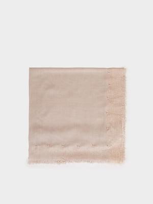 Шарф цвета пудры | 5320433