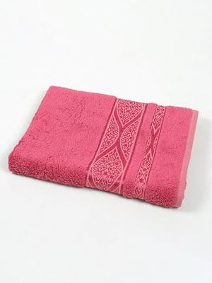 Полотенце розовое с принтом | 5162691