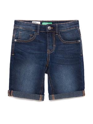 Шорты темно-синие джинсовые | 5320873