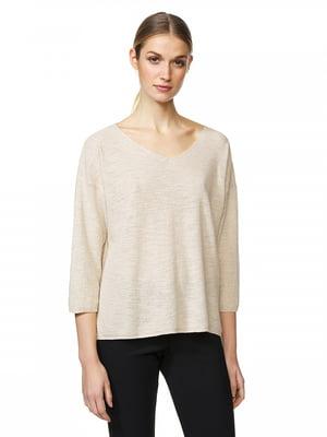 Пуловер бежевый | 5320930