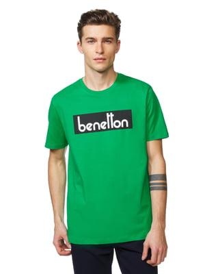 Футболка зелена з принтом   5320984