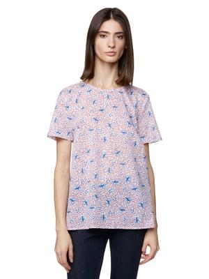Блуза молочного цвета в принт | 5321133