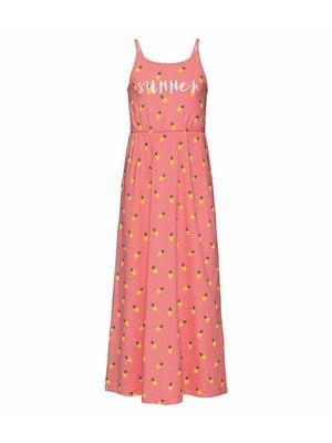 Сарафан розовый в принт   5321340