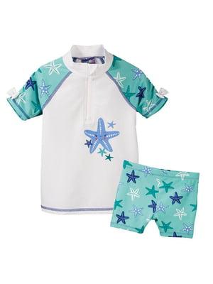 Пляжный костюм: футболка и шорты | 5321419