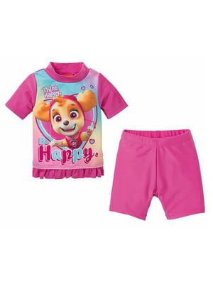 Пляжный костюм: футболка и шорты | 5321433