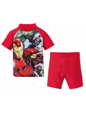 Пляжный костюм: футболка и шорты   5321438