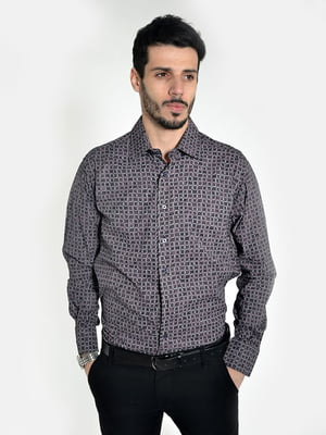 Рубашка серо-коричневая | 5322348