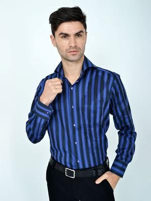 Рубашка фиолетово-черная | 5322355