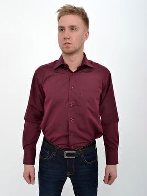 Рубашка баклажанного цвета | 5322453