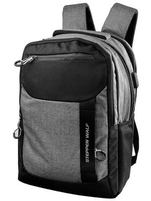 Рюкзак сіро-чорний | 5322663