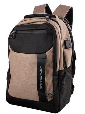 Рюкзак коричнево-черный | 5322666
