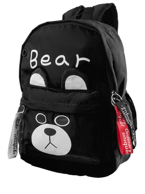 Рюкзак чорний з принтом | 5322742