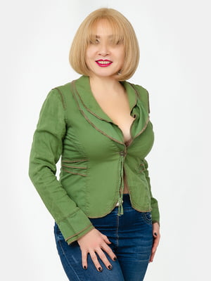 Жакет зеленый   5323376