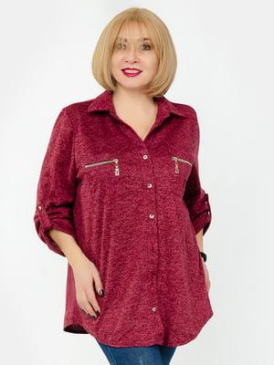 Блуза бордовая | 5323380