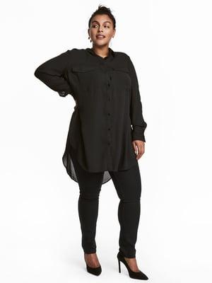 Туника-рубашка черная | 5323646