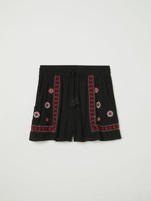 Шорти чорні з вишивкою   5324017