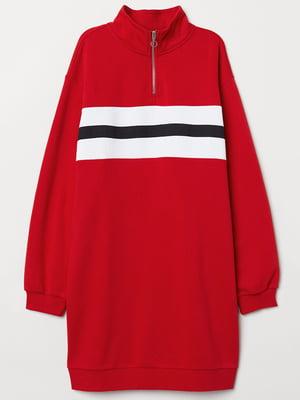 Сукня-світшот червона з начосом   5324083