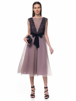 Платье серо-розовое | 5324736