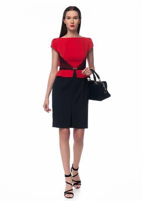 Платье черно-красное | 5324739