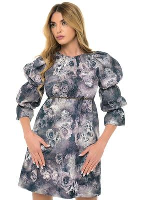 Сукня бежева з принтом | 5324742