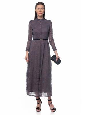 Платье серо-фиолетовое | 5324748