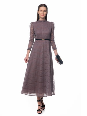 Платье серо-фиолетовое | 5324749