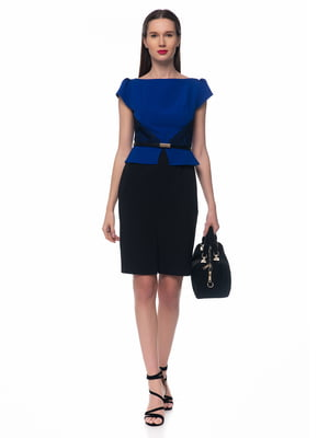 Платье черно-голубое | 5324757