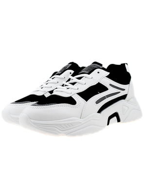 Кросівки біло-чорні | 5321911