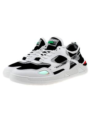Кроссовки бело-черные | 5321914