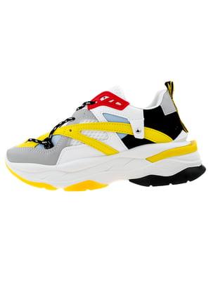 Кросівки біло-жовті | 5321931