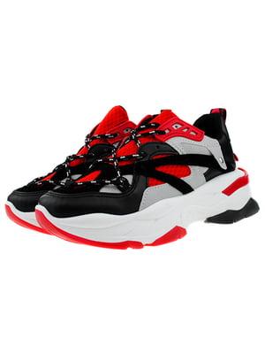 Кросівки червоно-чорні | 5321939