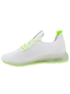 Кроссовки бело-зеленые | 5325860
