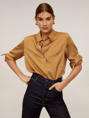Рубашка карамельного цвета | 5325424
