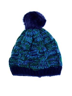 Шапка сине-зеленая | 5325975