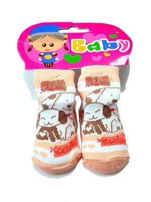 Шкарпетки персикового кольору | 5326320