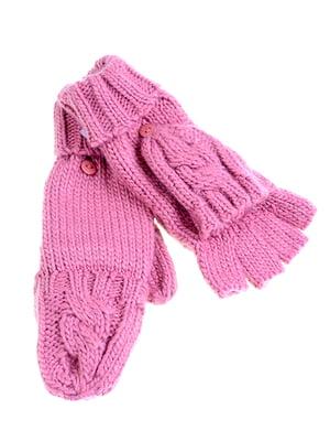 Перчатки-рукавицы розовые | 5326394