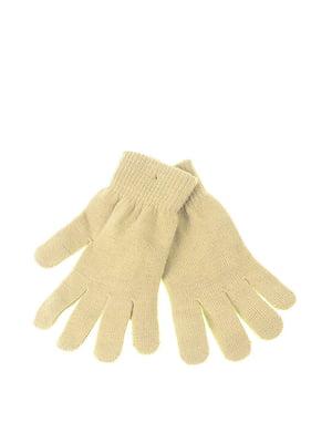 Перчатки бежевые | 5326447