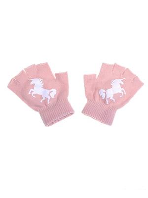 Митенки розовые | 5326542