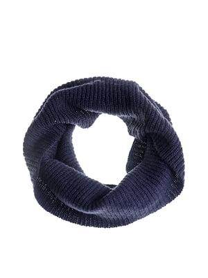 Шарф-снуд темно-синій | 5326556