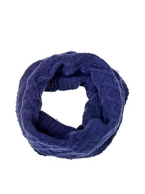 Шарф-снуд темно-синій | 5326570