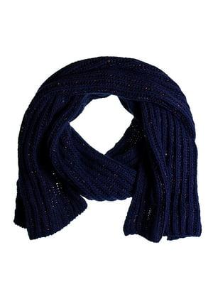 Шарф темно-синій | 5326629