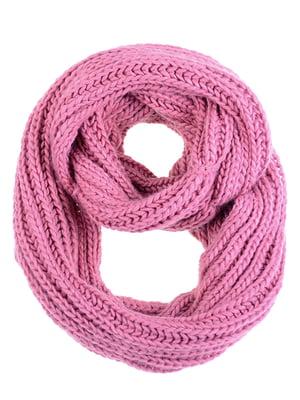 Шарф-снуд розовый | 5326691