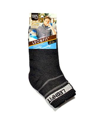 Шкарпетки темно-сірі | 5326699