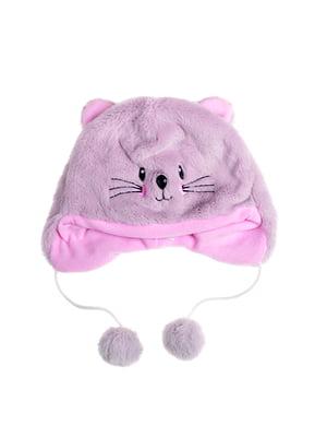 Шапка розовая «Мышка» | 5326806