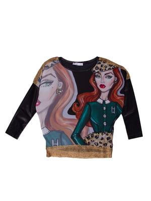 Блуза з принтом   5294756