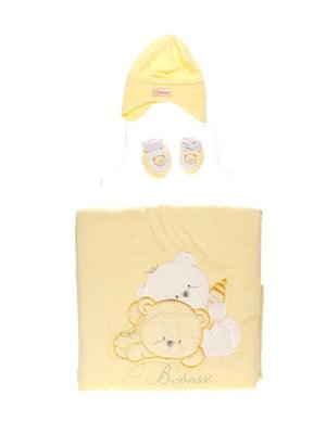 Комплект: плед-конверт, шапка і пінетки | 3952605